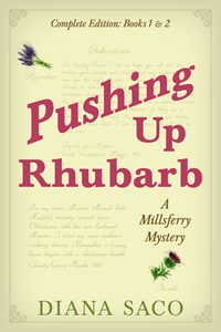 book cover for Pushing Up Rhubarb